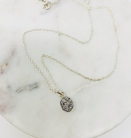 Saraswati Felice White Druzy Necklace