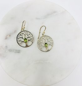 Saraswati Suma Peridot Tree of Life Earring