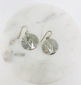 Saraswati Storytelling Silver Tree Earring
