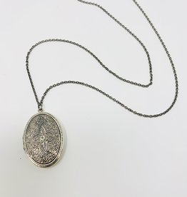 Ornamental Things silver Locket Necklace