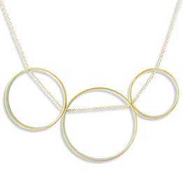 Ornamental Things Golden Circles Necklace