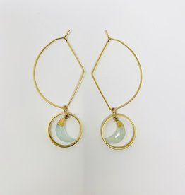 Ornamental Things Aqua Moon Earrings
