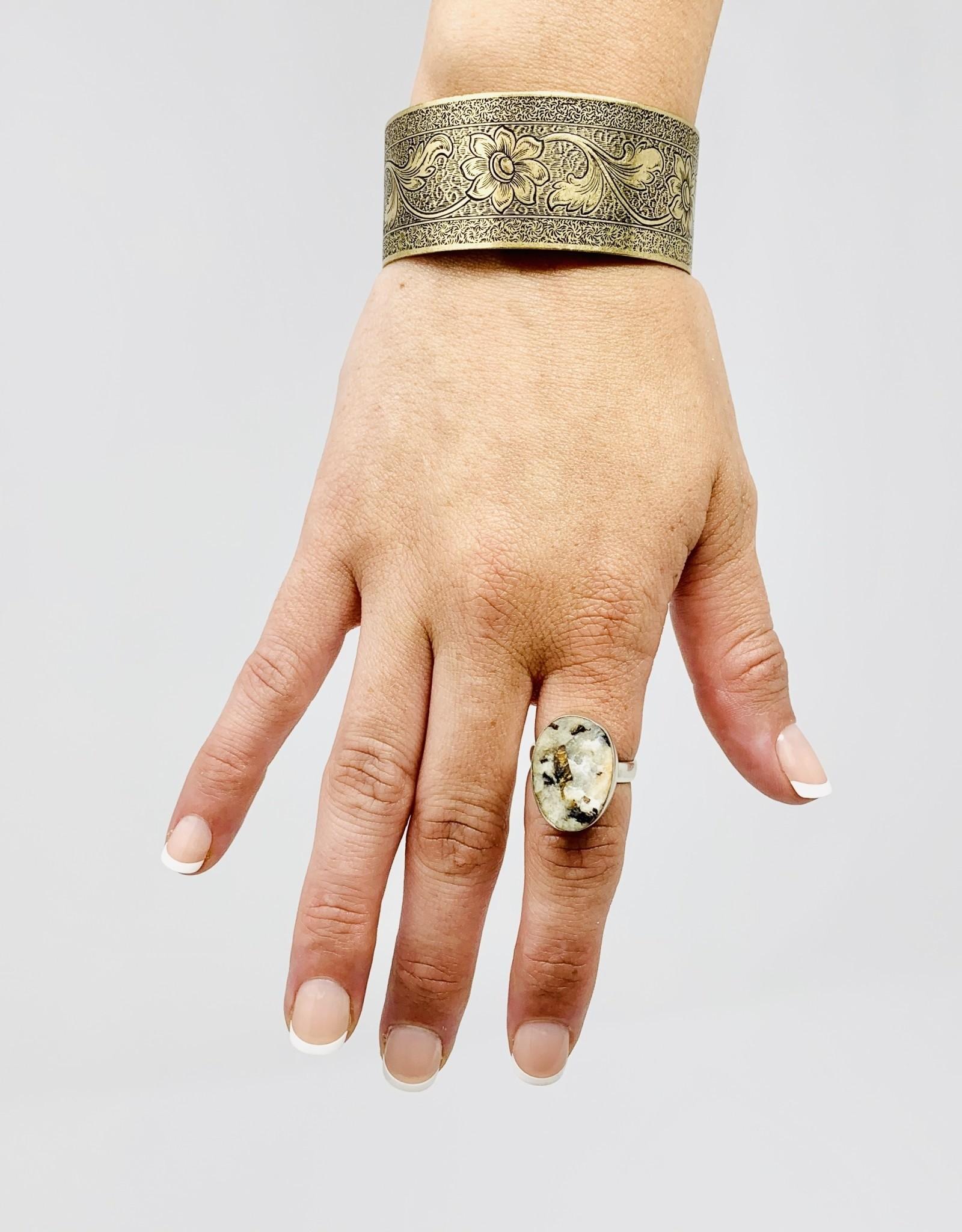 Precious Treasures Astropholite ring- sterling SZ 7