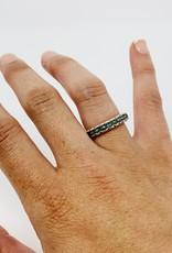 Precious Treasures Blue Topaz Band Ring-sterling SZ 6
