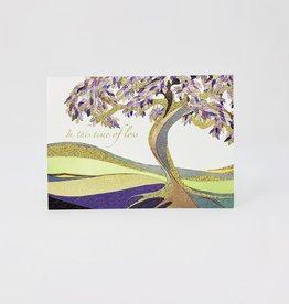 Design Design Purple tree in land
