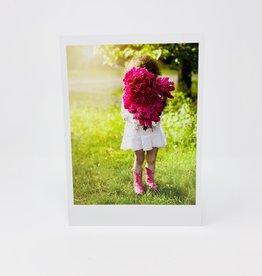 Palm Press Girl w/ Pink Flowers