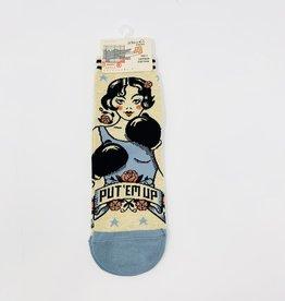 Blue Q. Put 'Em up W-Socks