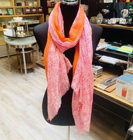 Tickled Pink Pink Paisley Scarf