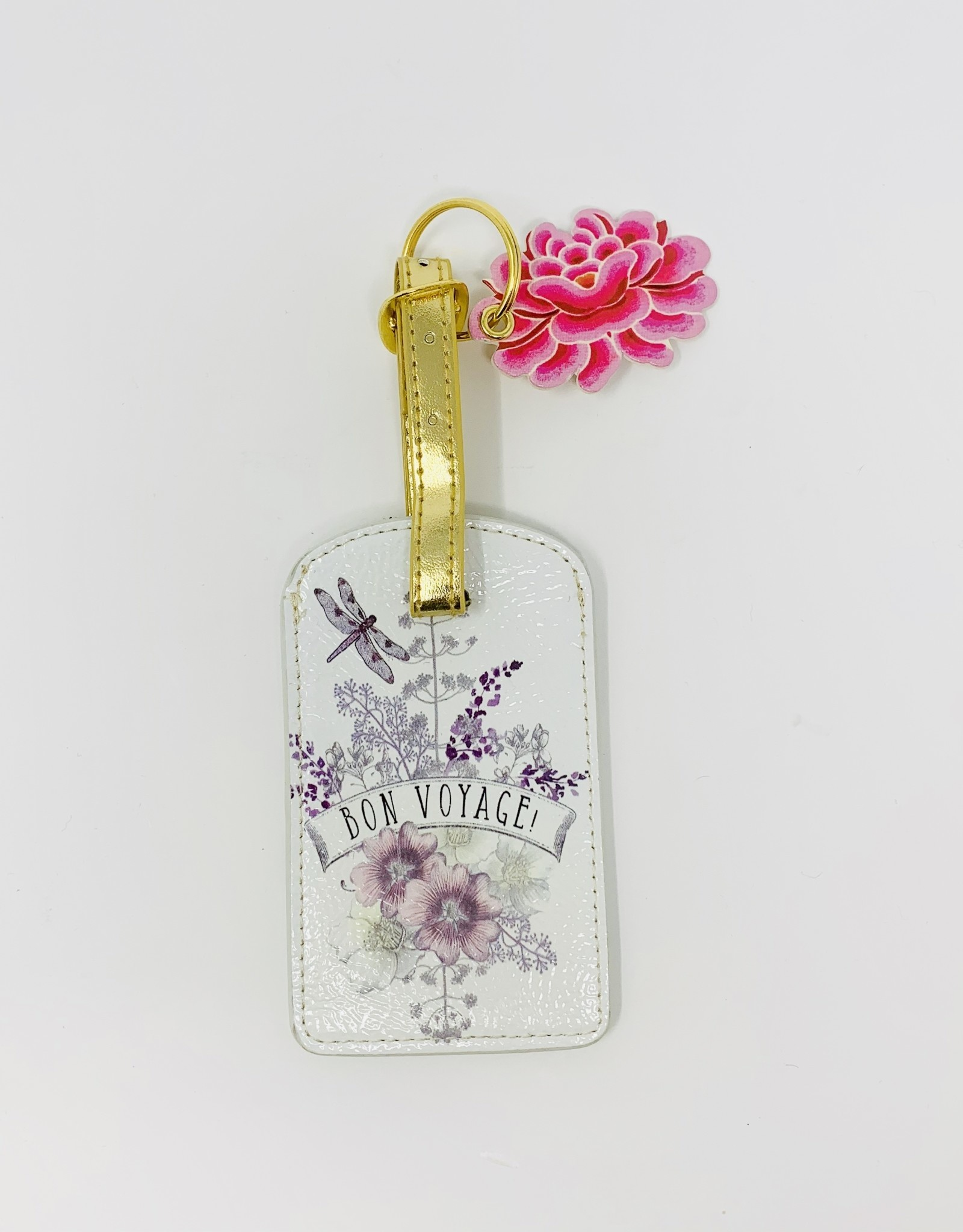 Papaya Dragonfly Luggage tag