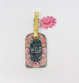 Papaya Wild at heart Luggage tag