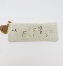 Fringe Cactus Canvas pouch