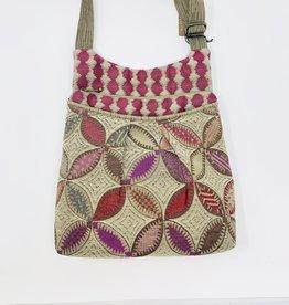 Maruca Bags Harper Purse Pink Leaf Circles