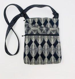Maruca Bags Pocket Bag Purse Black Leaf