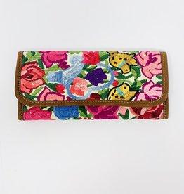 Altiplano Nubuck/Huipile Wallet-Floral