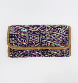 Altiplano Nubuck/Huipile wallet-Geo