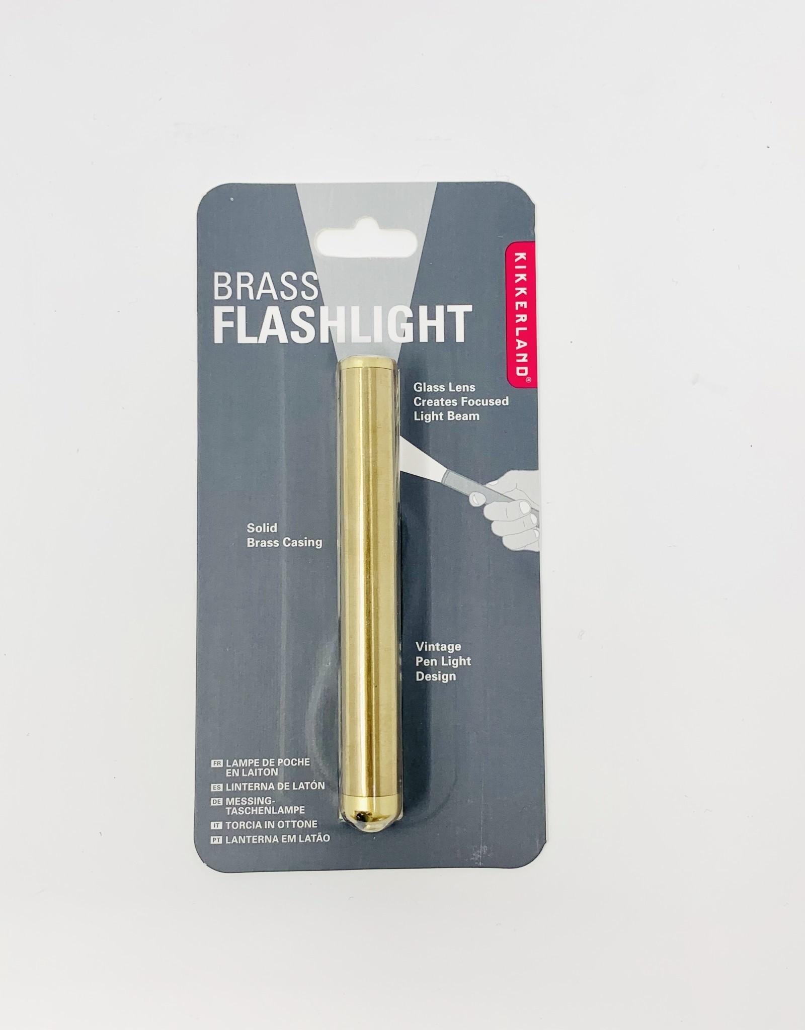 Kikerland Brass Flashlight