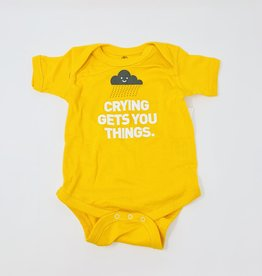Wry Baby Crying gets things onsie