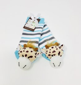 Two's Company Giraffe Footsie Rattle Socks