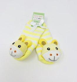 Two's Company Baby Bear Footsie Rattle Socks