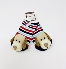 Two's Company Puppy Footsie Rattle Socks