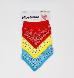 Fctry Red-Yellow-Blue Bandana Bibbs