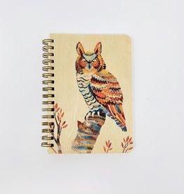 Night Owl Paper Goods Owl Spiral Journal