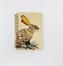 Night Owl Paper Goods Rabbit  Spiral Journal