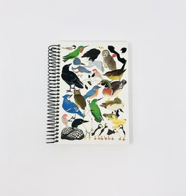 Crane Creek Graphics Bird Collage spiral Journal