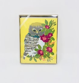 Elizabeth Grubrough Owl & Flowers
