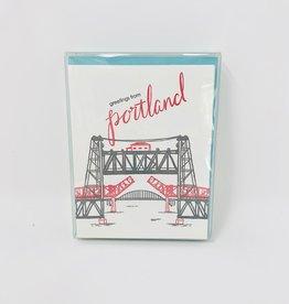 Smudge Ink Portland Bridges-Boxed