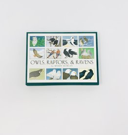 Crane Creek Graphics Owls,Raptors and Ravens- boxed