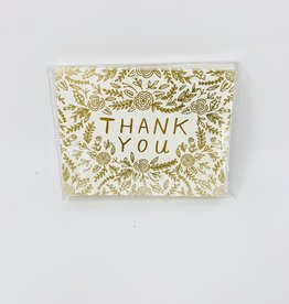 Waste Not Paper Gold Foil Thank you - Boxed