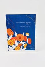 Compendium Red/Orange pattern Flowers