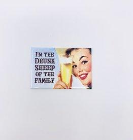 Ephemera Drunk sheep family magnet