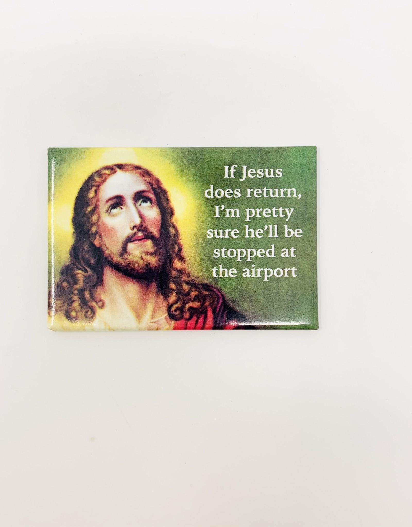 Ephemera jesus stopped at airport magnet