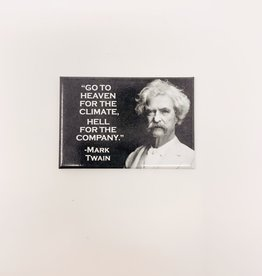 Ephemera Mark Twain-Heaven/hell magnet