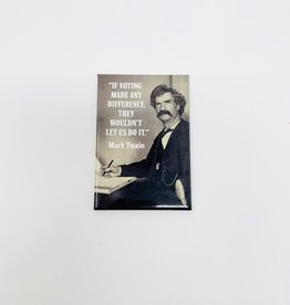 Ephemera Mark Twain-Voting magnet