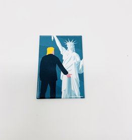 Ephemera Trump/statue of liberty magnet