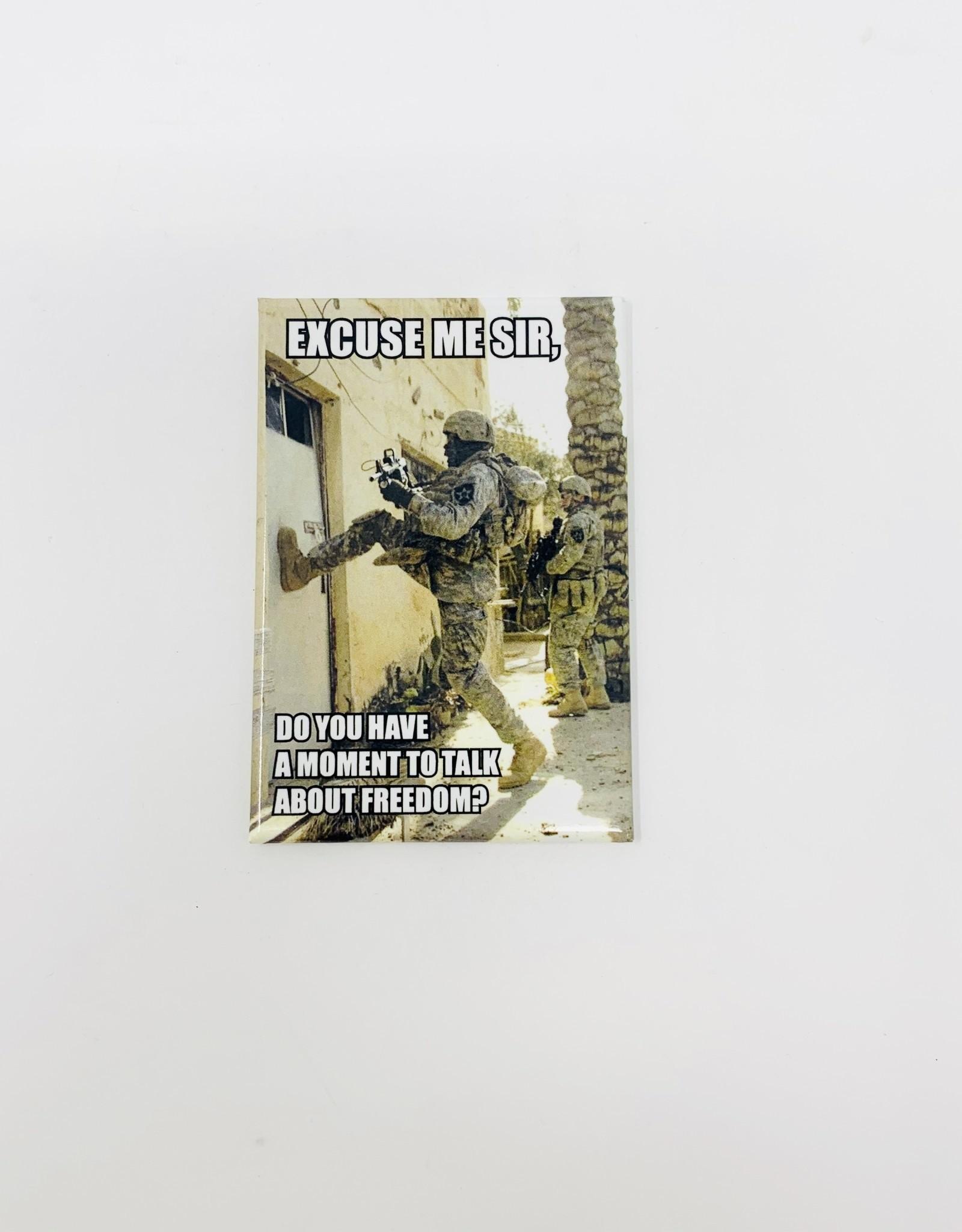 Ephemera Talk about freedom magnet