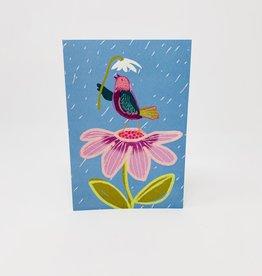 Pictura Glitter Bird w/ Flower