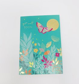 Notes & Queries Pink Butterfly-Gold foil sun