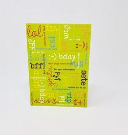 Design Design Happy Bday Txt