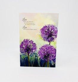 Pictura Purple puff Flowers