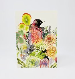 Collage Grackle and Succulents
