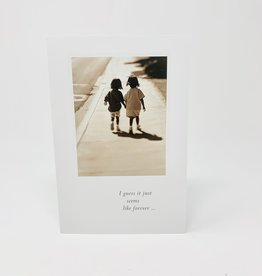 Cardthartic Little Girls on Sidewalk