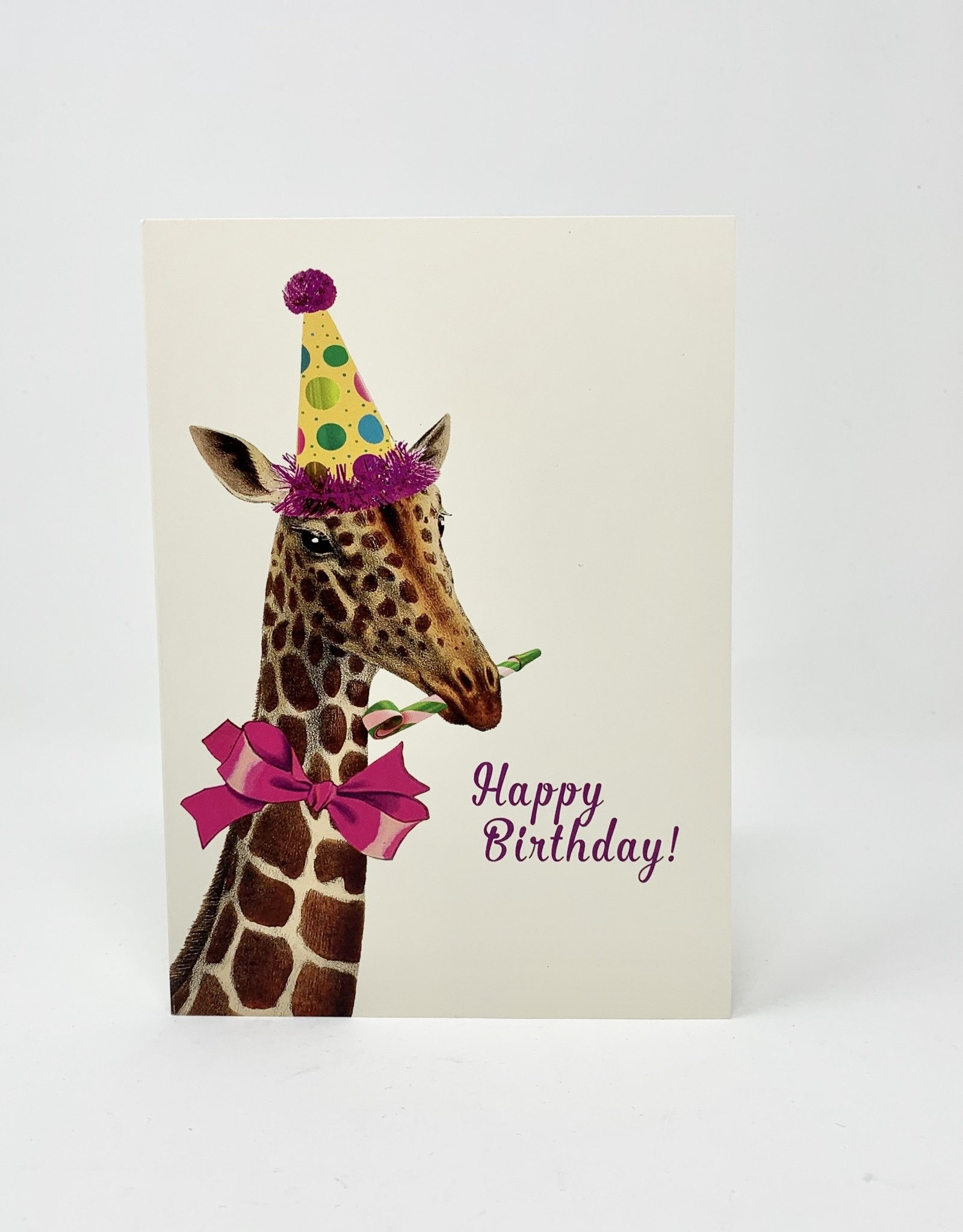 P. Flynn Design Happy Bday Giraffe with Glitter