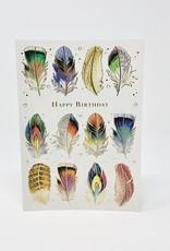 Design Design Happy bday Feathers