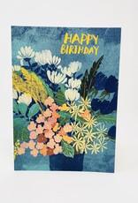 Design Design Blue Bday Flower Pot
