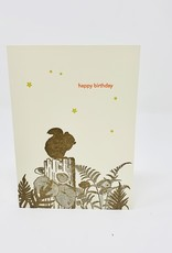 Lark Press Happy Birthday Squirrel on log