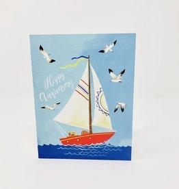 Oana Befort Fine Art and Stationary Happy Anniversary- Sailboat